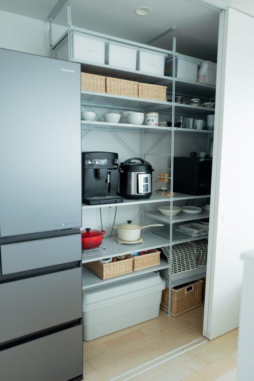 キッチンやベランダでも「収納ボックス」は大活躍(写真はsora_muji_houseさん宅)