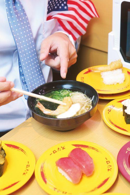 えび天にぎりは、麺類にのせるのがおすすめ(撮影/菅井淳子)