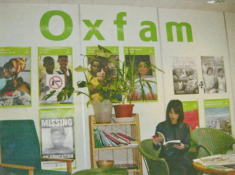 英国留学中に携わったボランティア団体『オックスファム』にて。ここでボランティアの意義を学んだ