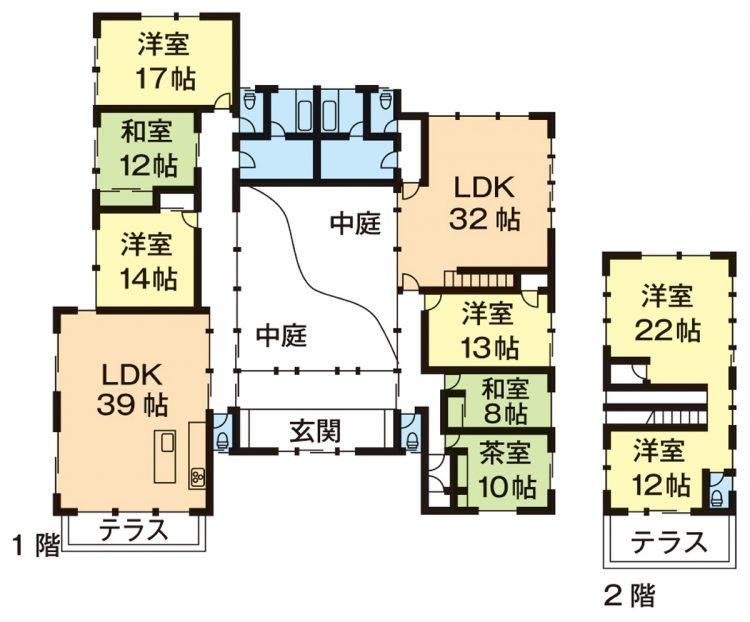 土地:1797平方メートル/建物:392.84平方メートル