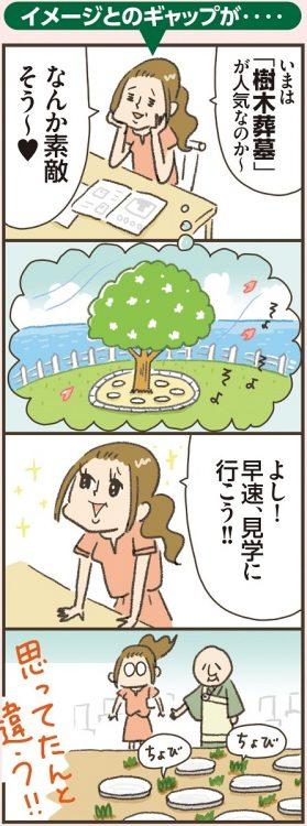 思っていた「樹木葬墓」と違うことも…(イラスト/小豆だるま)
