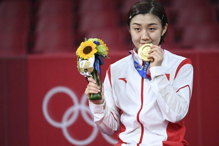 卓球女子シングルスで金メダルを獲得した陳夢選手の「我的時代到来了」発言は中国で大きく注目された(写真/代表撮影・雑誌協会)