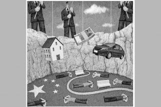 「寝そべり族」の増加が中国経済にどう影響するか(イラスト/井川泰年)