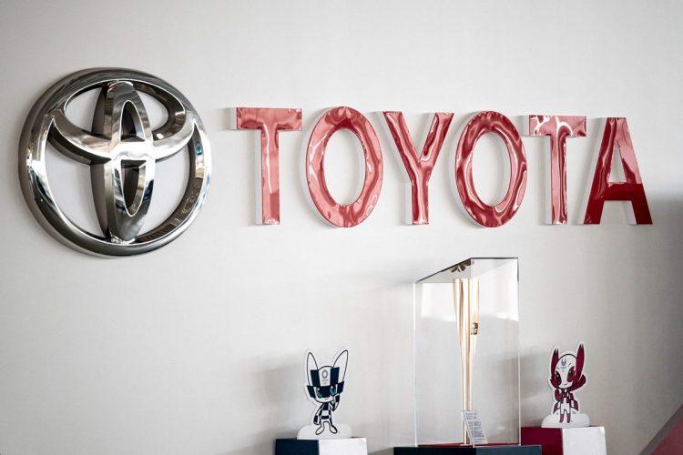 北京五輪のスポンサーにも名を連ねるトヨタの動向に注目が集まる(写真/AFP=時事)