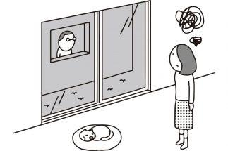 これではプライバシーが…(イラスト/大野文彰)