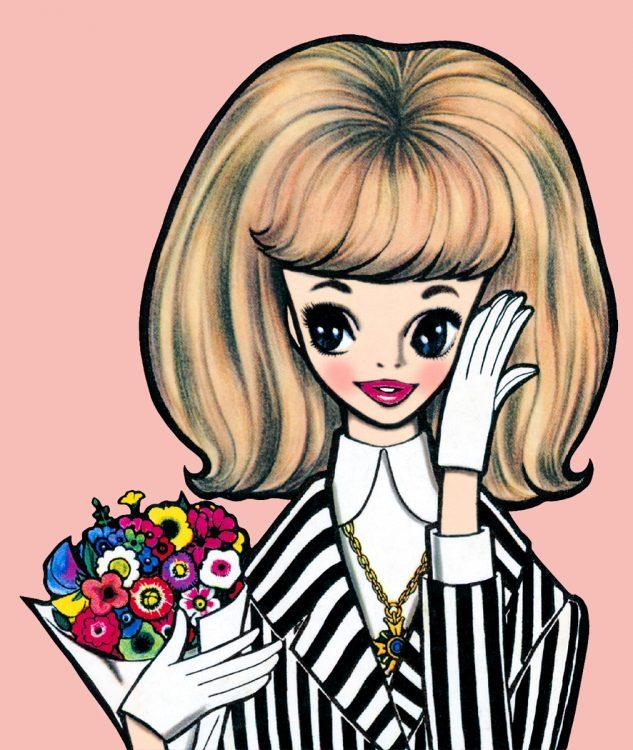 少女漫画の原点ともいわれる「ルネガール」/『ジュニアの日記』1960年版(1959年)より(C)R.S.H/RUNE