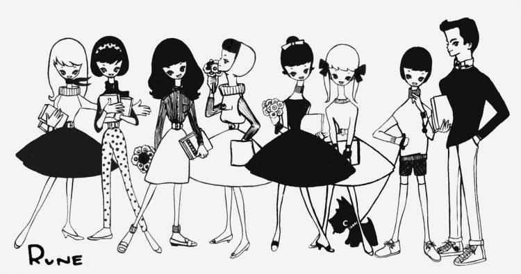 """いまも""""カワイイ""""と共感される内藤ルネの作品/『ジュニアそれいゆ』ひまわり社、第18号目次、1957年(C)R.S.H/RUNE"""