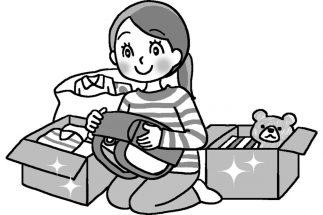 「物品を寄付」する際は受け取った相手がどう思うかまで想像すべし(イラスト/藤井昌子)